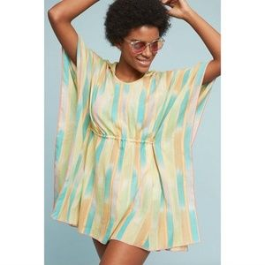 ANTHROPOLOGIE Lilka Pastel Rainbow Swim Cover Up